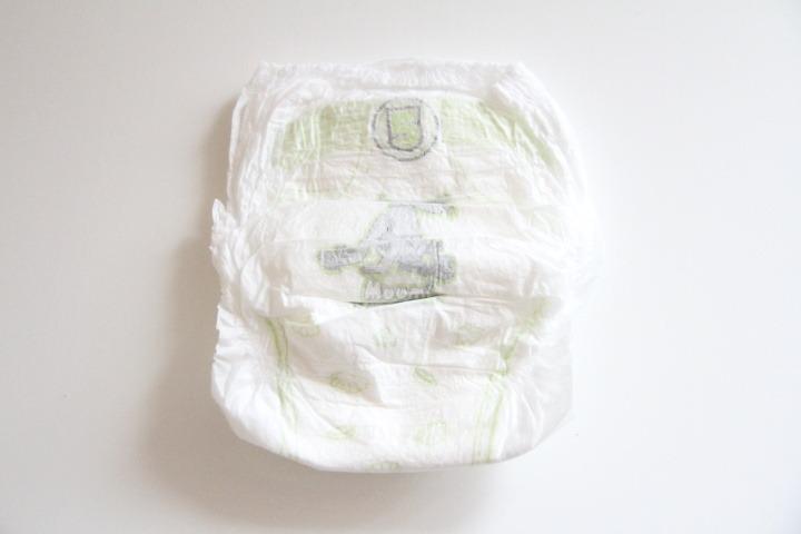 Muumi Baby Walkers - přední strana plenkových kalhotek