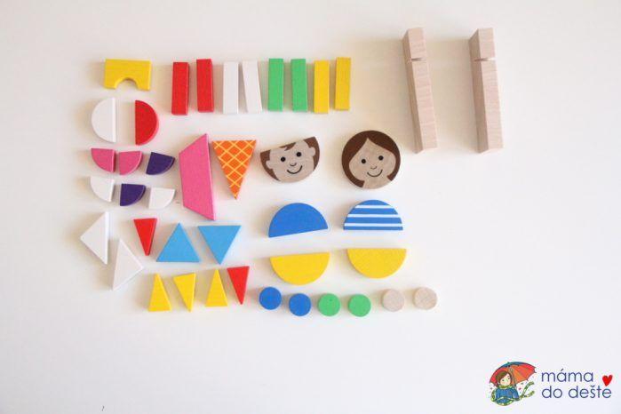 Magnetické puzzle Detoa Děti - co najdete uvnitř.