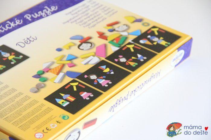 Magnetické puzzle Detoa Děti - detail na krabici.