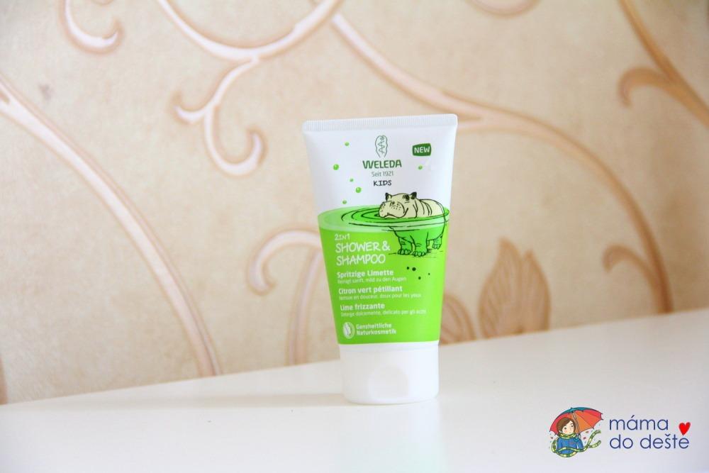 WELEDA 2 v 1 Sprchový krém a šampon, Veselá limetka (150 ml)