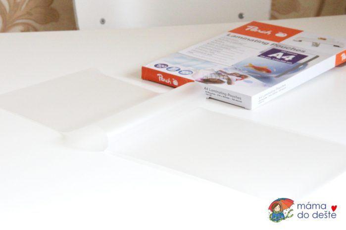 Rozložená laminovací fólie Peach A4 100 mic.