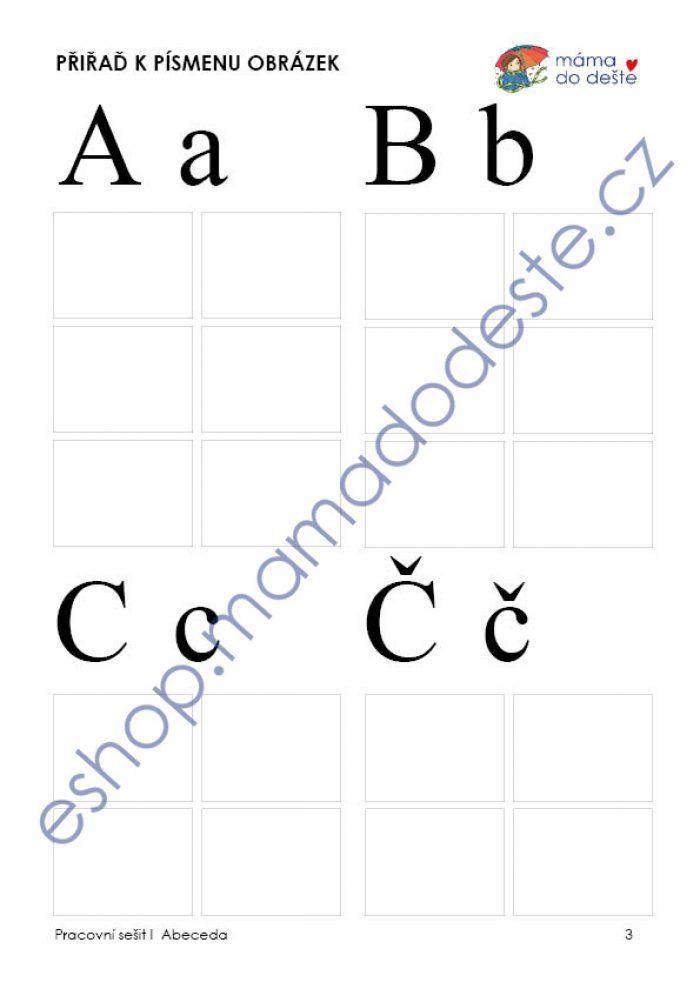 Pracovní sešit abeceda - prázdný
