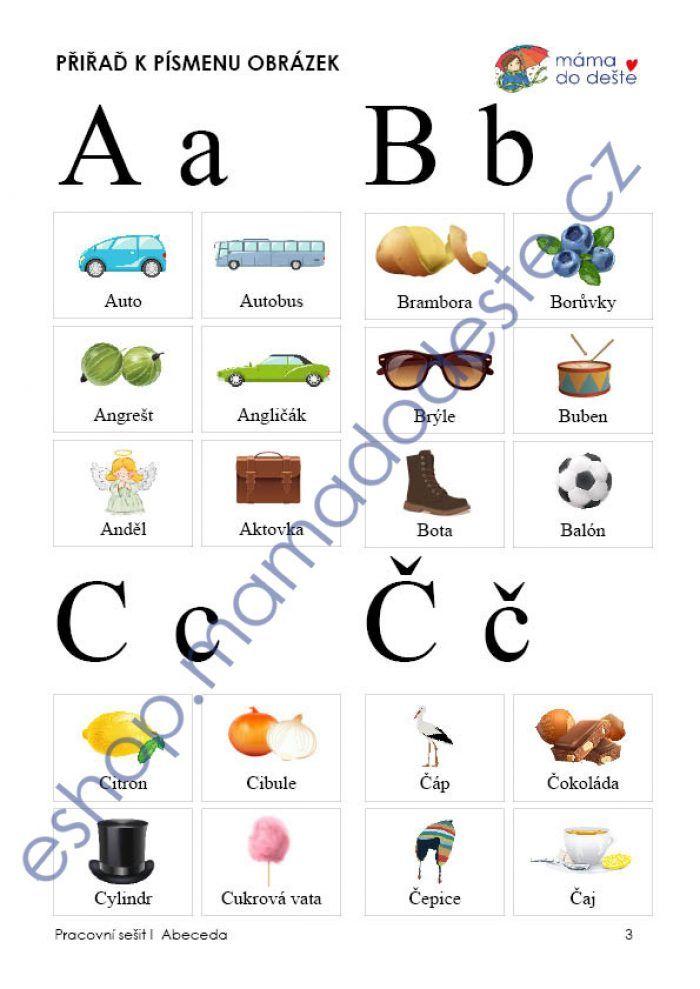 Pracovní sešit abeceda - složený