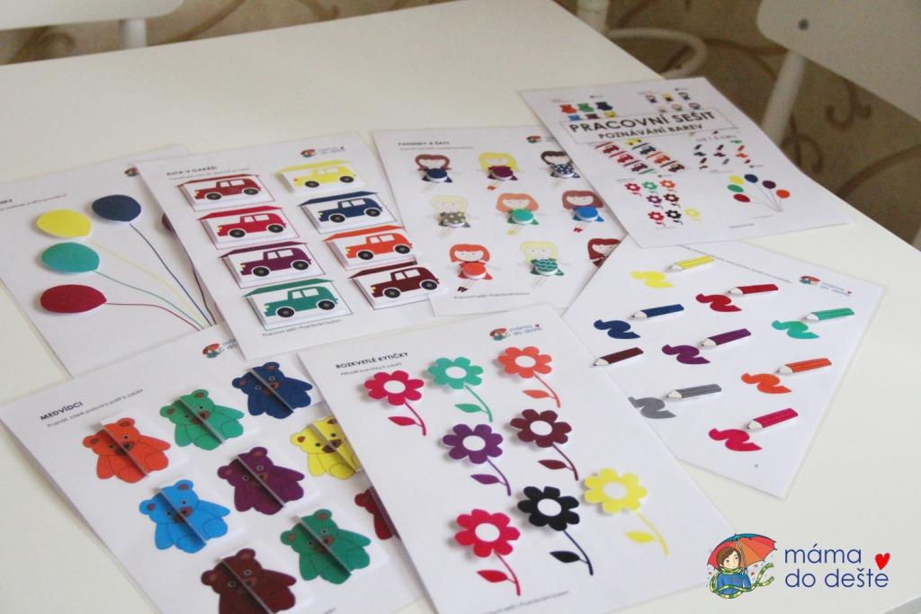 Pracovní sešit poznávání barev