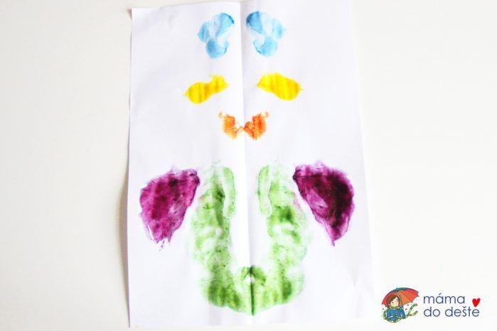Domácí prstové barvy. Jak na výrobu jarní kytice? Výsledný obrázek