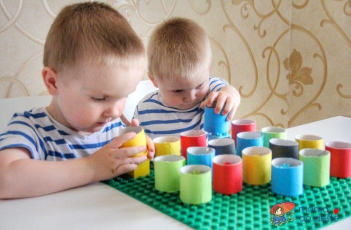 DUPLO: Hra na procvičení barev ajemné motoriky (úroveň 1)