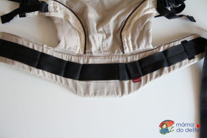 Nosítko Manduca: Charakteristické vykrojení bederního pásu
