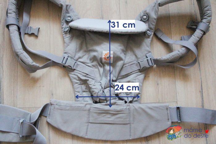 Ergobaby Adapt - minimální rozměry nosítka