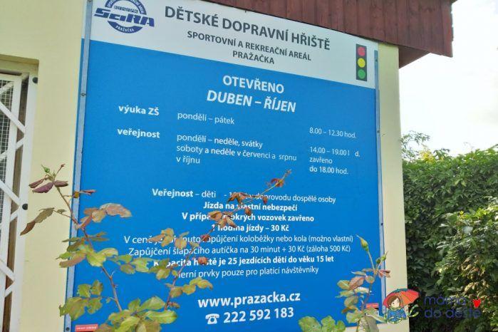 Otevírací doba - dopravní hřiště Praha 3