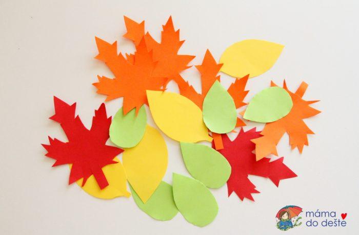 Podzimní dekorace na okna – listy