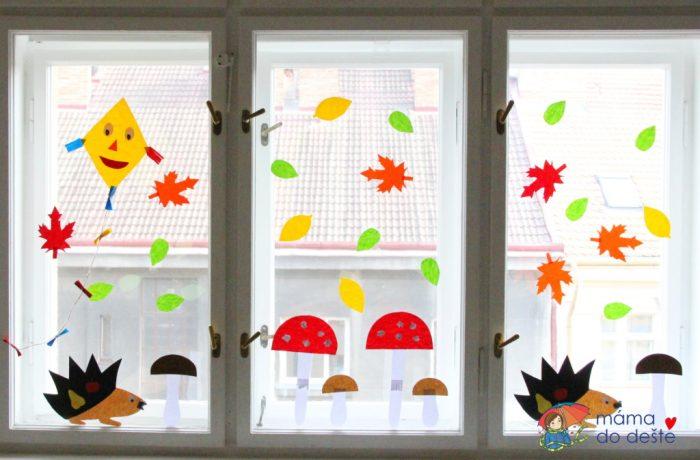 Podzimní dekorace na okna