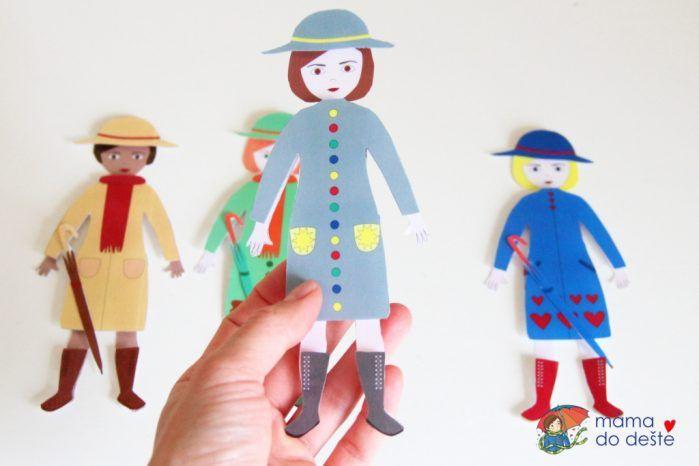 Oblékací panenky k zalaminování na suchý zip