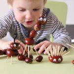 Zvířátka z kaštanů a jak je vyrobit s malými dětmi