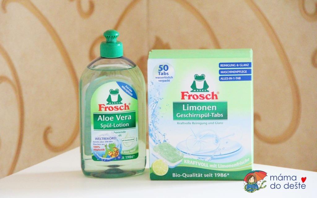 Frosch čistící prostředky jar a tablety do myčky