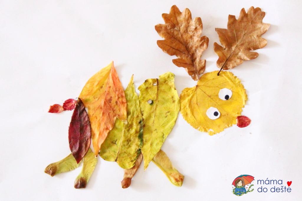 Jelen z listí