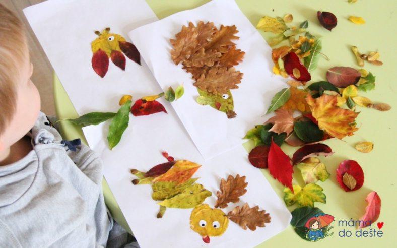 Podzimní tvoření: Lepíme stromy a obrázky z listů