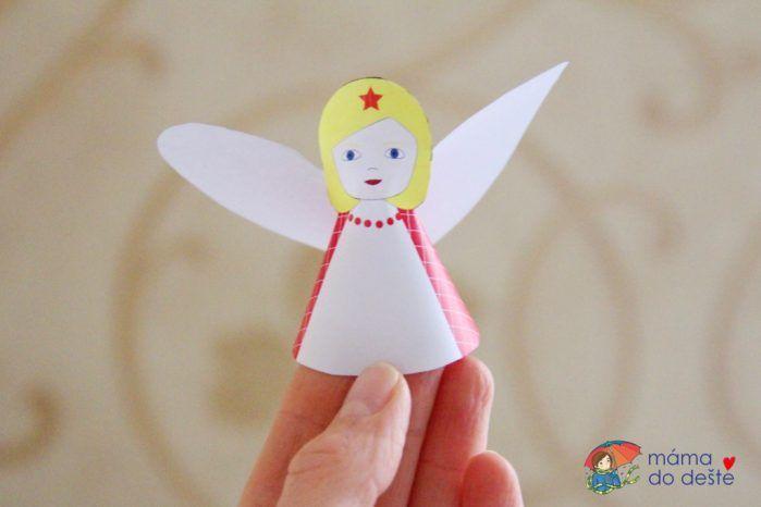 Vánoční dekorace: Papíroví andělíčci nejen jako ozdoba na stromeček