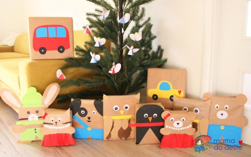 Tipy, jak originálně zabalit dárky pro děti k Vánocům