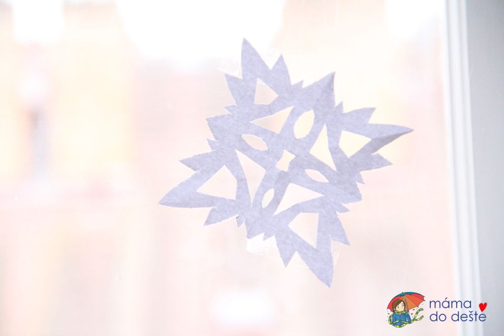 """Vánoční dekorace na okna a """"dopis"""" pro Ježíška"""