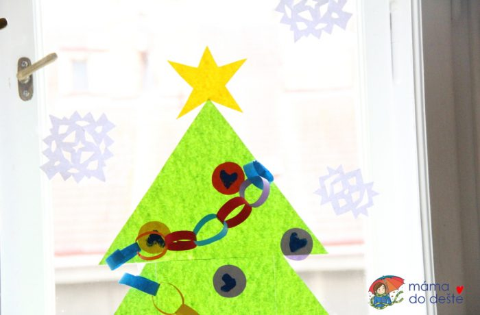 """Vánoční dekorace na okna a""""dopis"""" pro Ježíška"""