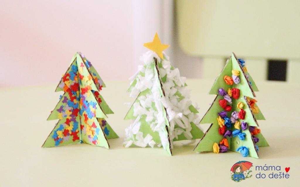 Ozdob si svůj stromeček: Barevné nebo zasněžené vánoční dekorace z kartonu