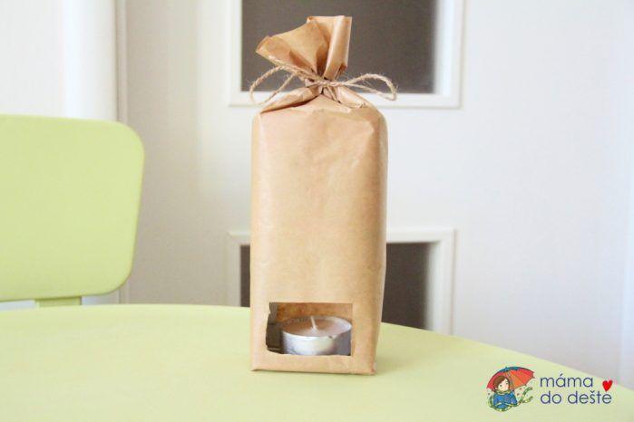 Svatomartinské lampiony z krabice od mléka a balicího papíru