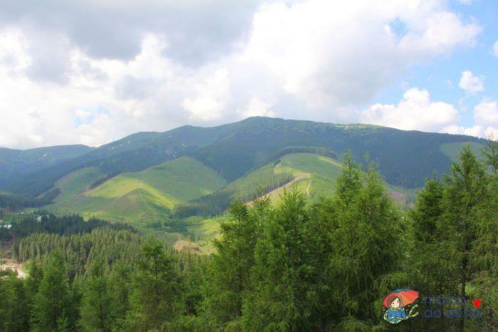Demänovská dolina, Biela Púť - výhled z rozhledny