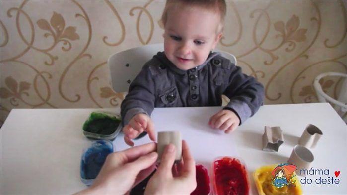 Domácí prstové barvy - razítkování krok za krokem