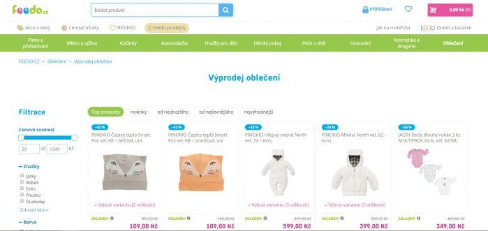 E-shop Feedo.cz