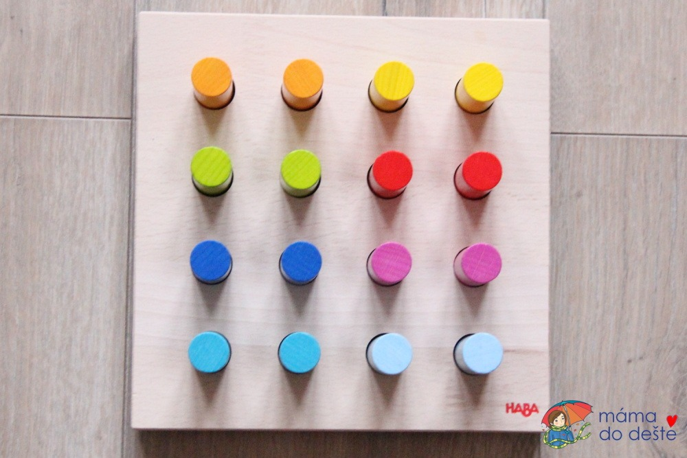 HABA hra s barvami - vložené špalíky