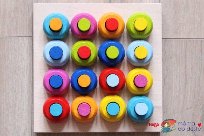 HABA hra s barvami - barevné kombinace