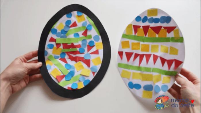 Vejce jako mozaika