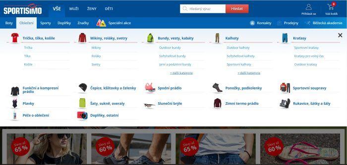E-shop Sportisimo.cz