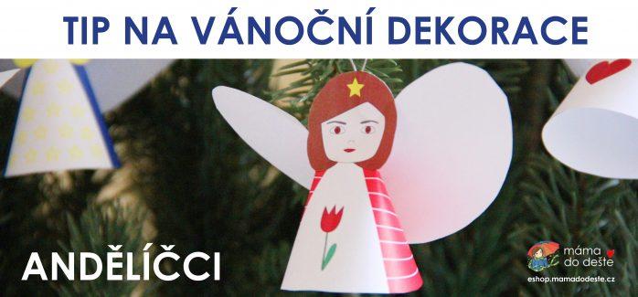 Vánoční dekorace andílci na eshop.mamadodeste.cz