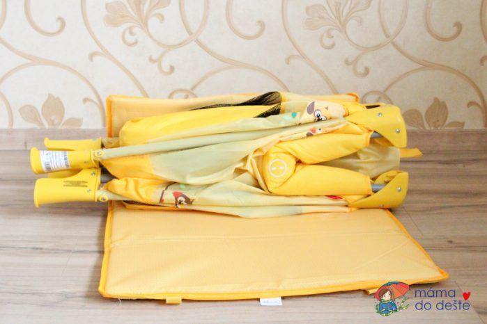 Cestovní postýlka Patron - složená se skládací matrací