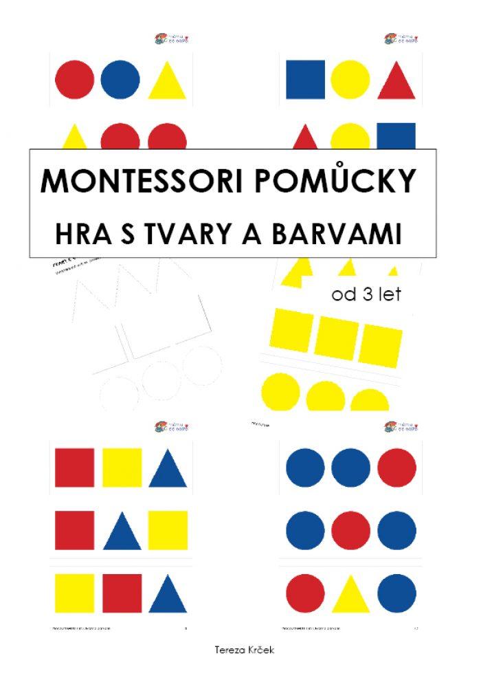 Hra s tvary a barvami (Montessori pomůcky) za 10 Kč
