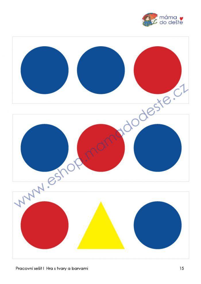 Hra s tvary a barvami (Montessori pomůcky)