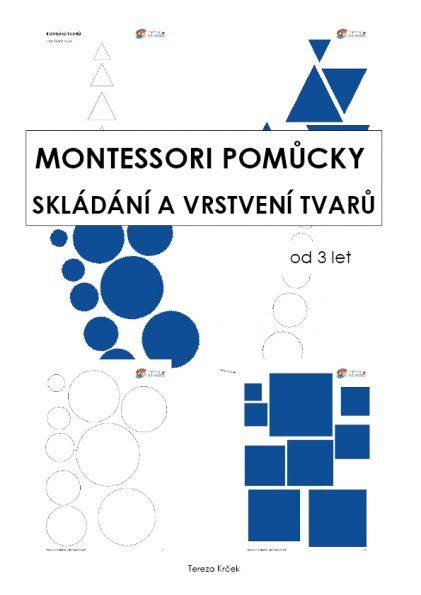 Skládání a vrstvení tvarů (Montessori pomůcky) za 10 Kč