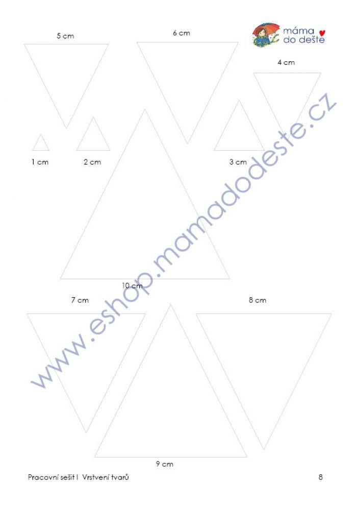 Skládání a vrstvení tvarů (Montessori pomůcky)