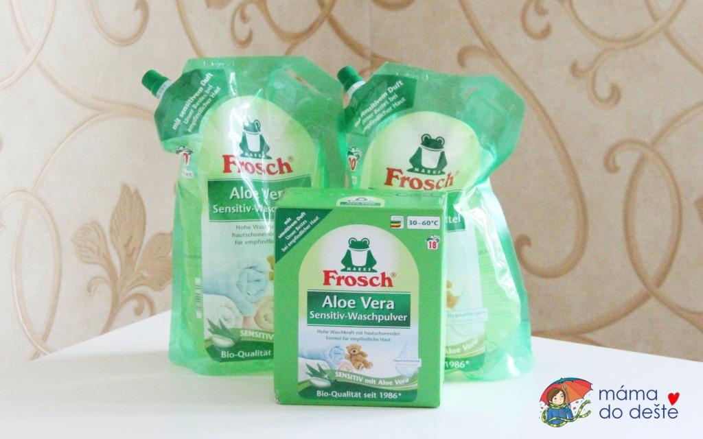 Prací gel a prací prášek Frosch