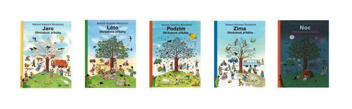 Knihy od Rotraut Susanne Berner: Jaro, Léto, Podzim, Zima a Noc.