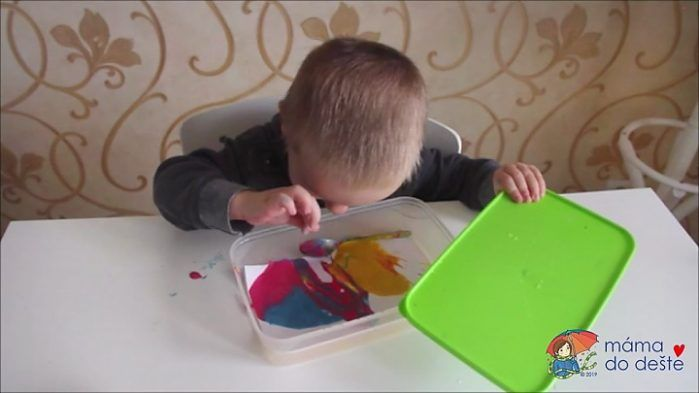 Kreativní lžička a domácí prstové barvy - krok za krokem