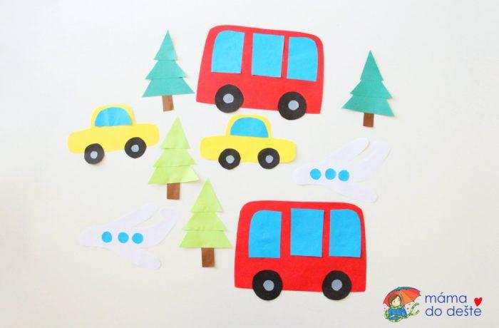 Papírové dekorace na okna do dětského pokojíčku