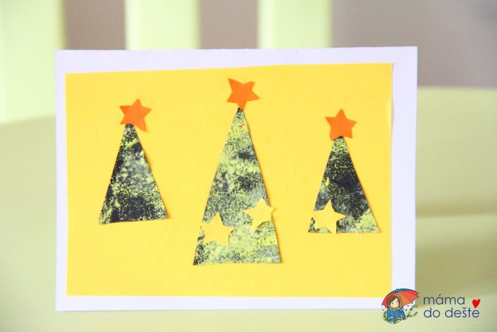 Jednoduché vánoční přání, které vyrobí i malé děti