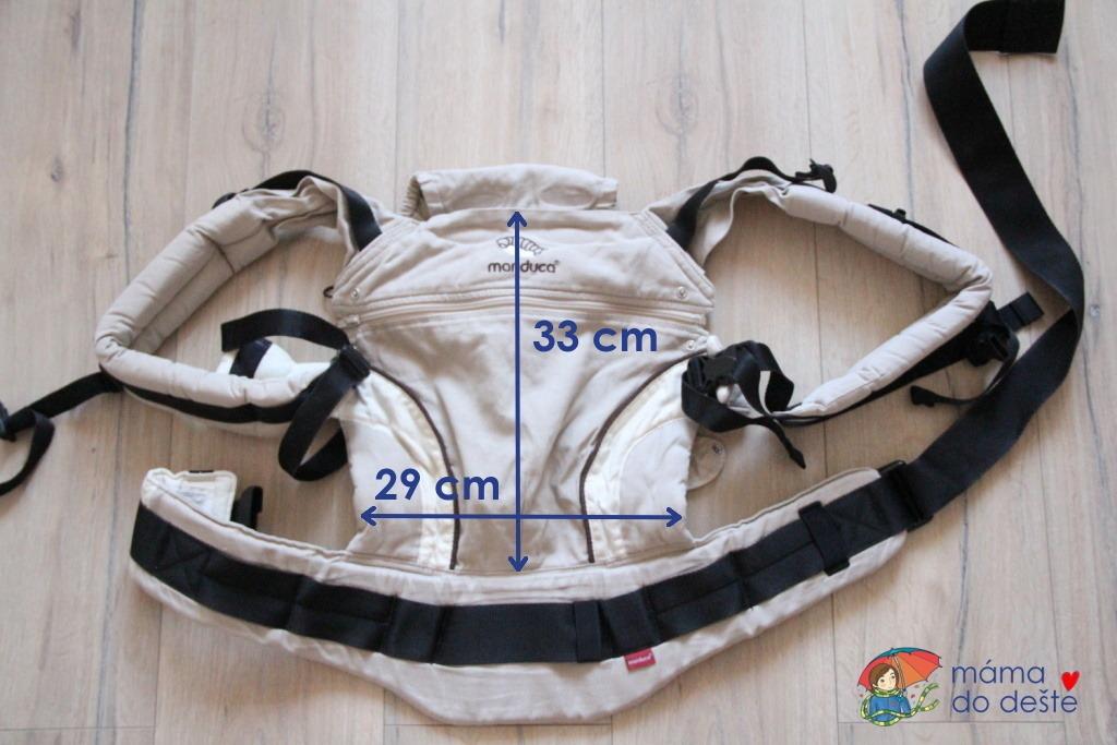 Nosítko Manduca - minimální rozměry