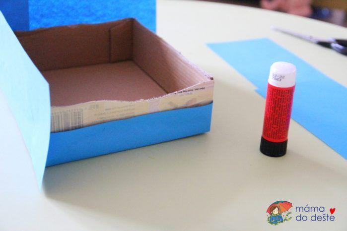 Návod na výrobu barevných krabic do dětské kuchyňky nebo stánku
