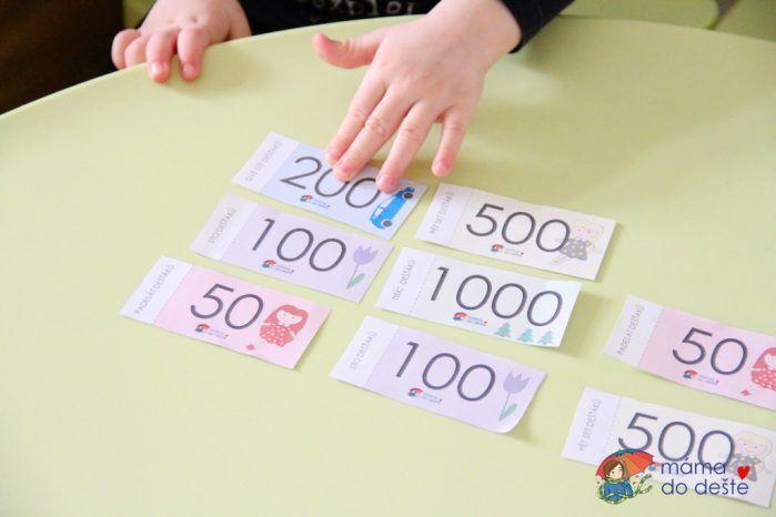 Dětské peníze ke stažení zdarma