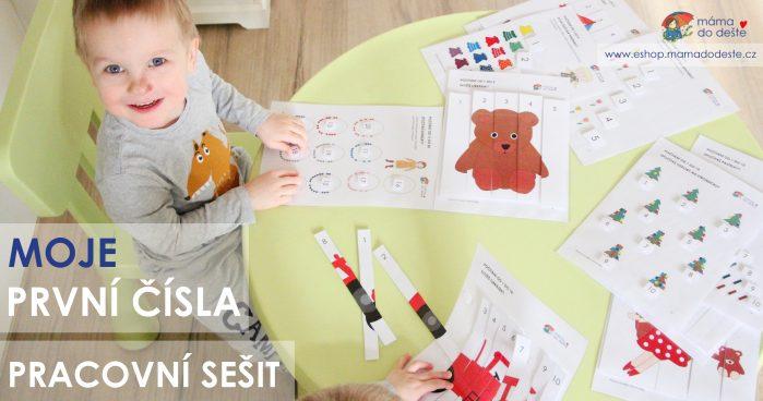 Pracovní sešit Moje první čísla - PDF koupíte na e-shop.mamadodeste.cz