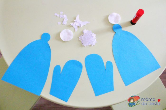 Procvičování jemné motoriky: Zdobíme čepice a rukavice z papíru