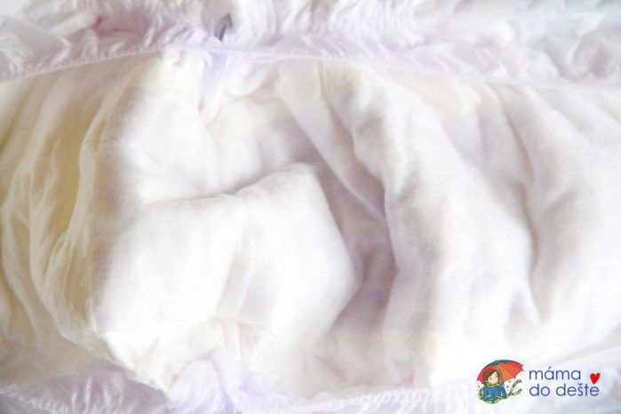 Dětské pleny Lupilu Premium & Comfort - detail na savé jádro